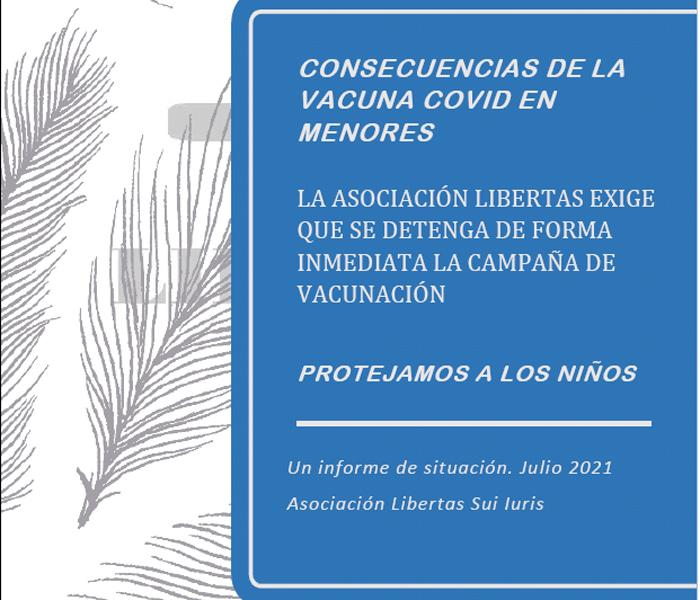 Consecuencias de las vacuna Covid en menores