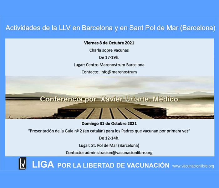 Próximas actividades en Barcelona y Sant Pol de Mar