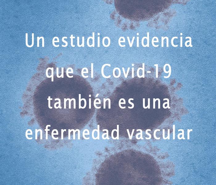 Covid 19 también es una enfermedad vascular